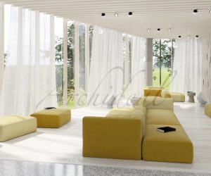 yellow relaxing commercial room